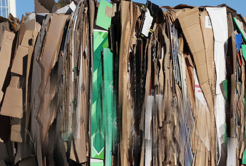 Baled Cardboard, recycle your bulk cardboard
