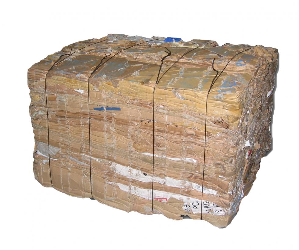 Baled or loose cardboard